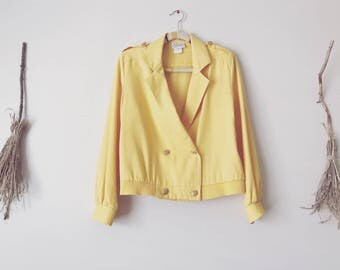 Mustard Yellow Copped Blazer