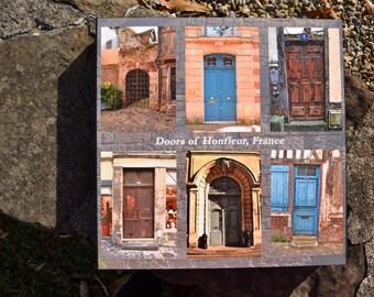 Doors of Honfleur France collage