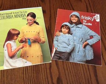 Vintage Set of 2 Knitting Pattern Books