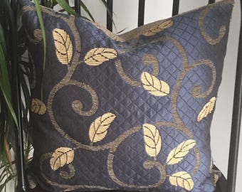 Vine Pattern Quilted Cushion