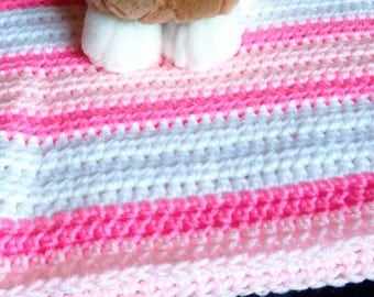 Pink & White Lap Throw