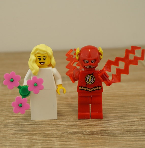 The Flash Lego Flash Wedding Flash Cake Topper Lego wedding
