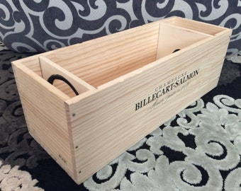 French wooden champagne crate- Billecart-Salmon 3L