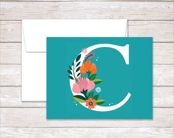 Personalized NoteCards, Folded Note Cards, Thank You NoteCards, Monogram NoteCards, Stationery Set, Teacher Gift, Personalized Note Cards