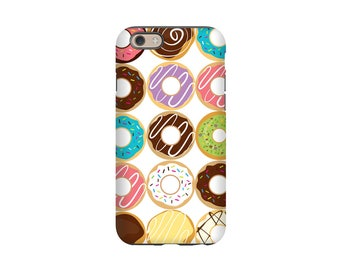 Donut Phone Case,  Donut Lover Gift, iPhone Case, Samsung Galaxy Case, Tough Case, Slim Case, iPhone 5S, Retro Phone Case, Sweet Treats