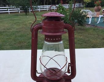 RED BLIZZARD  Hurricane Lantern Vintage