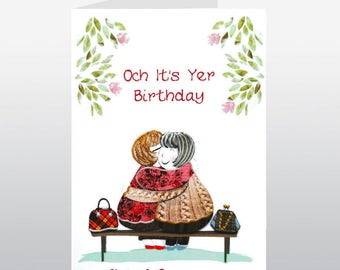 Scottish Gie's A Squeeze Birthday Card WWBI114