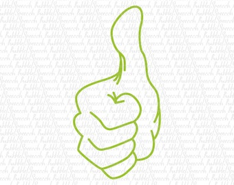 Thumbs up Svg kids clipart, vector by SpeecchBubble