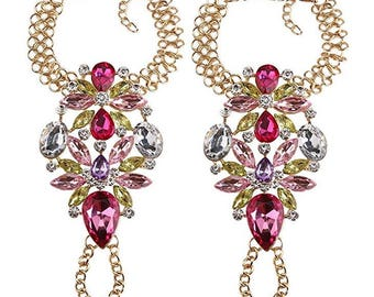 Flower Wristlet Jewel Bracelet