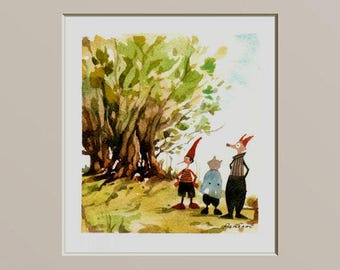 Pinocchio in the wood with the Cat and the Fox