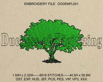Tree Embroidery Design, Tree Embroidery File, Tree Embroidery, DODEMFL001