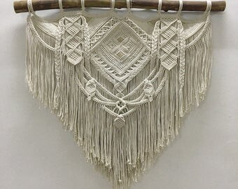 PIA. Macrame wall hanging, tapestry