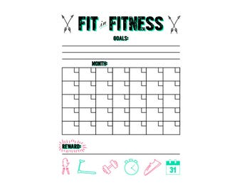 Monthly Fitness Tracker Printable