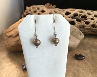 Vintage Navajo Sterling Silver Dangle Earrings