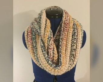 Chunky Infinity Scarf, Chunky Crochet Infinity Scarf, Crochet Scarf, Crochet Infinity Scarf