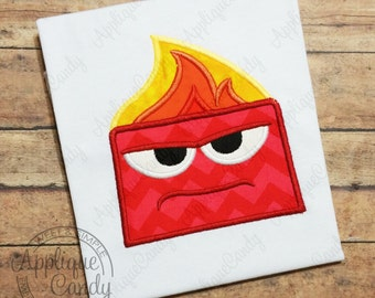 Anger Applique Machine Embroidery Design Digital File 4x4 5x7 6x10 Out Inside emotion emotions INSTANT DOWNLOAD
