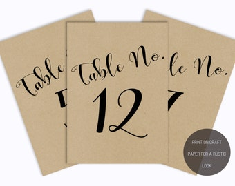 No. TN2 | Table Numbers | 1 - 15