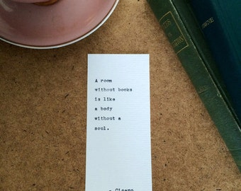 Type Writer Bookmark: Cicero