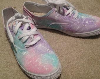 Custom Painted Galaxy Flats