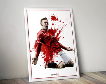 Wayne Rooney Manchester United A3 Poster