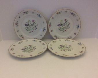 Set of 4-Franconia Krautheim Selb Bavaria Millefleurs Salad Plates