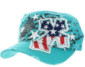 American Flag Cross Hat