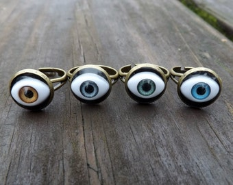 Doll Eye Adjustable Ring (4 colors to choose from)