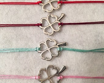 Bracelets silver clover charm Bracelets connector adjustable xs to xxl! FREE international SHIPPING!