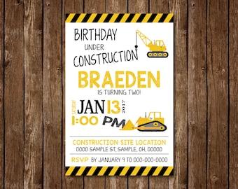 Boy Birthday Under Construction