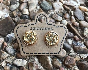 Gold drusy earrings, gold druzy earrings, drusy, druzy, drusy earrings, druzy earrings