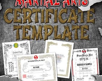 Certificate Template -MARTIAL ARTS, Custom, Taekwondo, Karate