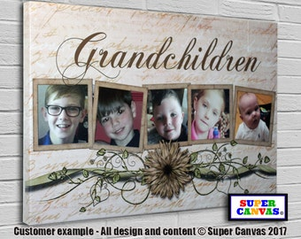Family/Grandchildren Personalised Canvas with Pictures