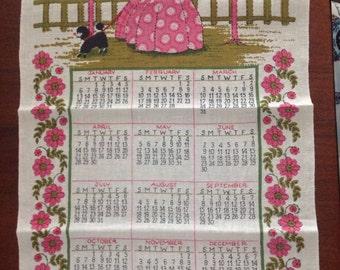 Pure Linen Tea Towel - 1974 Calendar