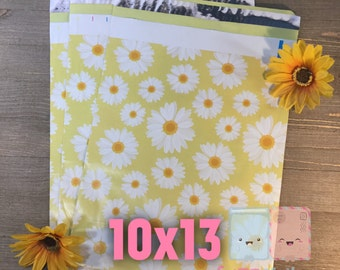 20-40 pcs Daisy Poly Mailers 10x13