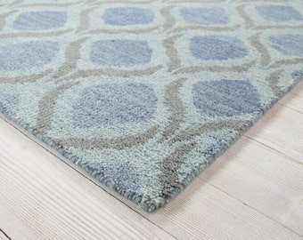 Lief rug, Cambridge blue