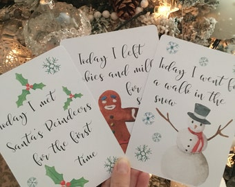 Baby's first christmas milestone cards