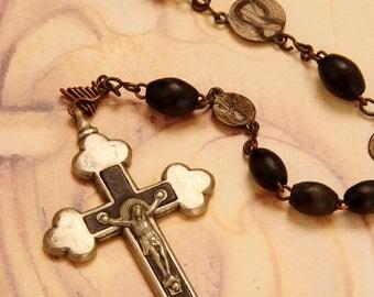 large black rosary, Großer schwarzer Rosenkranz,Grand chapelet noir