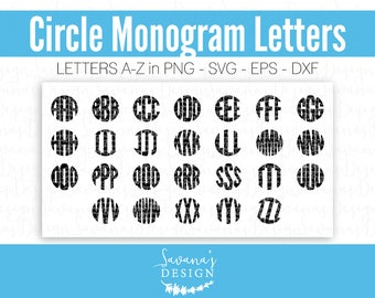Circle Font SVG, Circle Monogram Font SVG, Circle Monogram SVG, Monogram Letters Svg, Cricut Monogram, Cricut Letters, Svg Fonts for Cricut