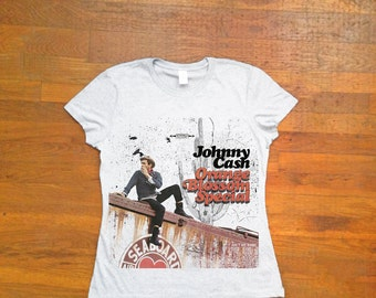 Johnny Cash Vinyl T-Shirt