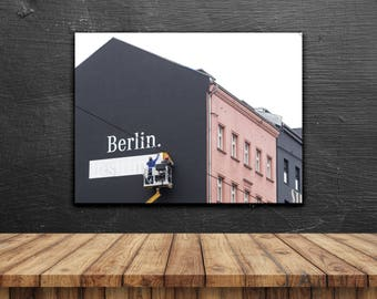 Berlin // Poster, Photography, Street, Skyline, Urban, City, Image, Picture, House, Print, Wall Decor, Home Decor, Mood, Unique, Cityscape