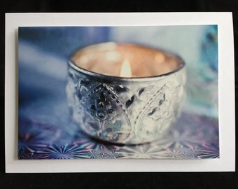 Christmas Card Candle