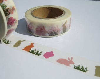 Rabbits Washi Masking Tape - Cute Rabbit Themed Washi Tape