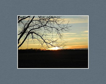Peaceful Evening - Matted Print