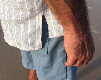 The Murray, mens linen/cotton shorts