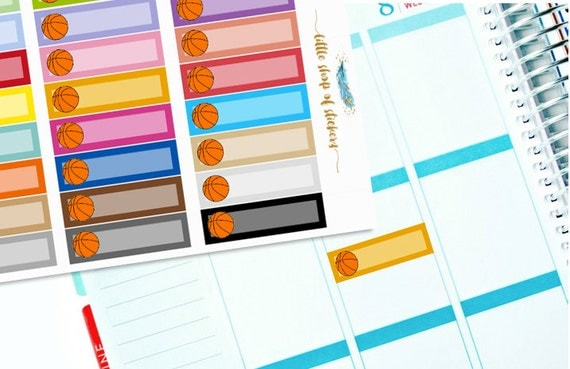 Basketball Labels || Planner Stickers, Planner Labels, Label Stickers, Basketball Stickers, Stickers For Planner, Functional Stickers