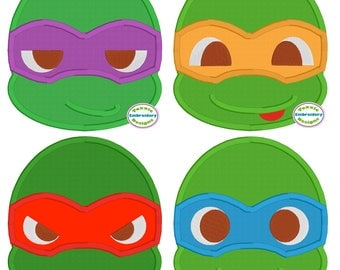 Ninja Turtles Applique - Set of 4