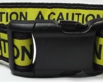 Caution Dog Collar -  FREE Shipping