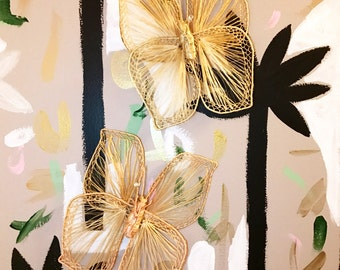 Vintage Butterfly Wall Hangings