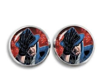 Phantom Stranger Earrings Fandom Jewelry Phantom Stranger Studs  Cosplay Fangirl Fanboy