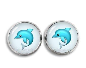 Dolphin Stud Earrings Emoji Earrings Emoji Dolphin Stud Earrings 12mm earrings